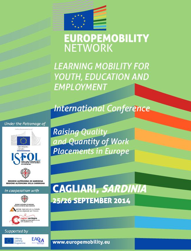 "Teatro Massimo di Cagliari 25 e 26 settembre 2014 conferenza internazionale ""Learning Mobility for Youth, Education and Employment"""