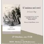 Cagliari al MEM il 27 ottobre 2014 presentazione del libro L'anima nei rovi di Cesare Piga.