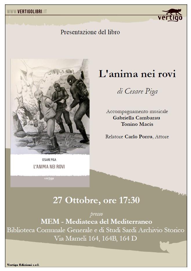 Cagliari MEM 27 ottobre 2014 via Mameli 164 presentazione del libro L'anima nei rovi di Cesare Piga