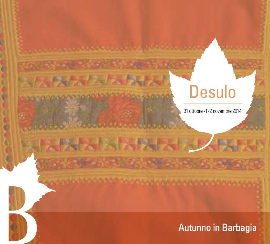 Cortes Apertas 31 ottobre e 1 e 2  novembre 2014 a Desulo, Autunno in Barbagia 2014 a Desulo