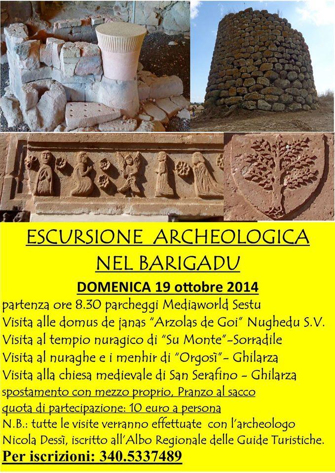 Nicola Dessì Escursione Archeologica nel Barigadu Domenica 19 ottobre 2014
