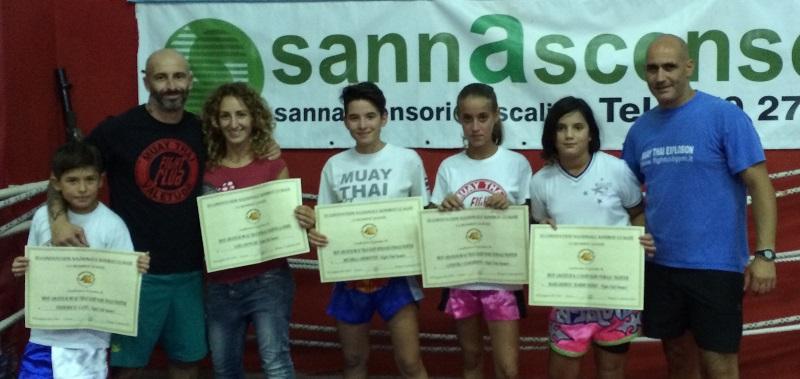 Gli atleti del Tarantini Muay Thai Boxing di Sassari  premiati a Bologna