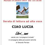 """""""Ciao Lucia"""". Il nuovo appuntamento con Libri…amo a Pirri."""