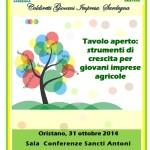 I Forum di Coldiretti Giovani Impresa Sardegna Oristano 31 ottobre 2014 Sala Conferenze Sancti Antoni.