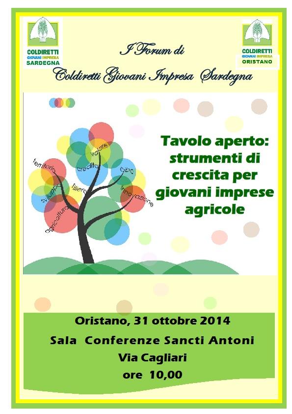 Locandina Forum Giovani Impresa Coldiretti