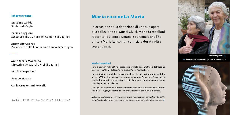 Maria Crespellani racconta Maria Lai Musei Civici di Cagliari Palazzo di Città Piazza Palazzo Giovedì 9 ottobre 2014