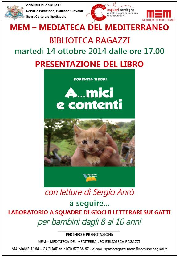 Martedì 14 ottobre 2014 la Biblioteca Ragazzi della MEM ospiterà la presentazione del libro di Conchita Tironi