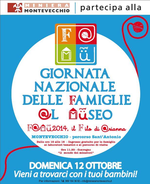 Miniera Montevecchio a Guspini aderisce alla Giornata Nazionale delle Famiglie al Museo ingresso gratuito 12 ottobre 2014