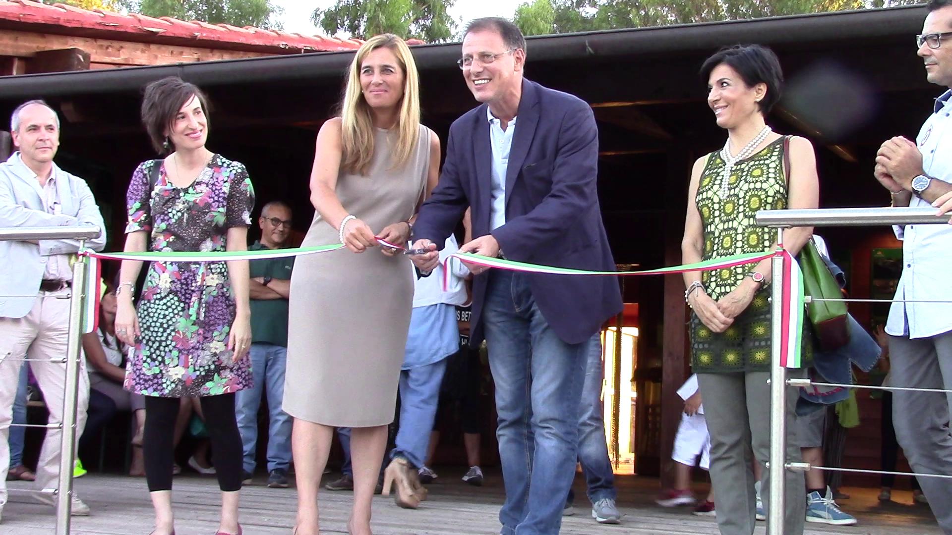 Parco di Bunari - Sassari inaugurazione taglio nastro agosto 2014