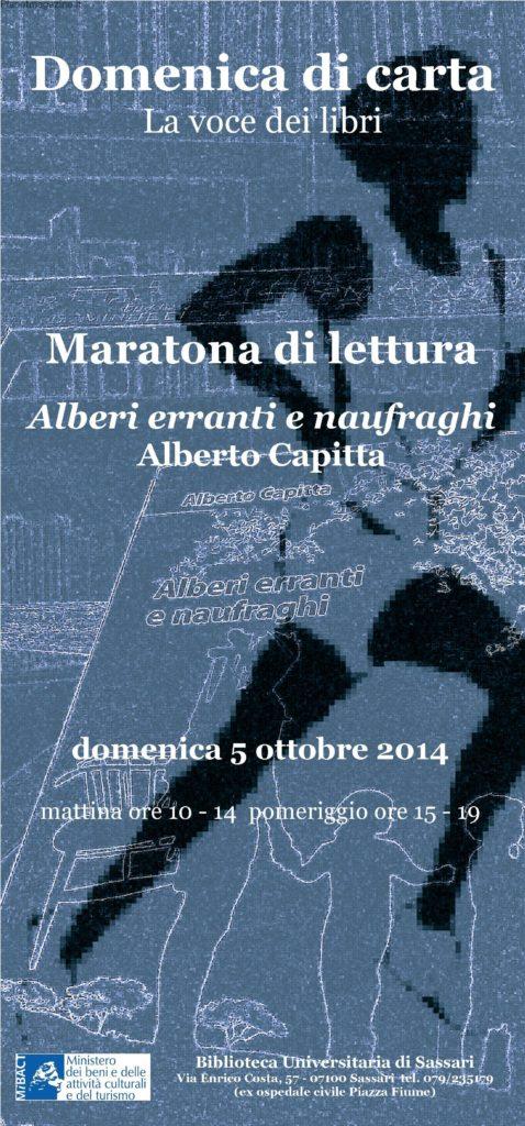 Domenica di Carta Sassari Biblioteca Universitaria di Sassari 5 Ottobre 2014 - Maratona di lettura mostra e visita guidata.