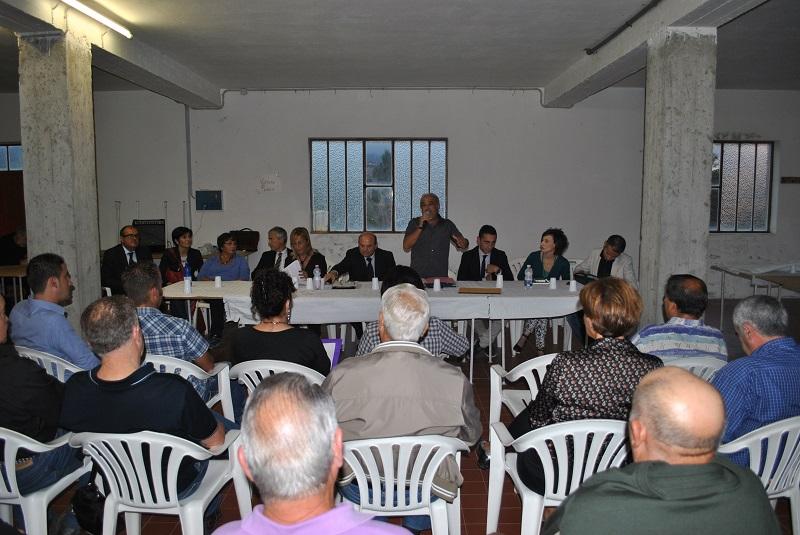 Sassari ottobre 2014 comunicato stampa. Il sindaco Nicola Sanna e la sua giunta incontrano a Palmadula i cittadini delle frazioni.