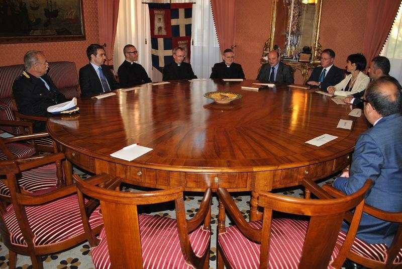 Sassari_visita di cardinale Angelo Amato a Palazzo Ducale_1
