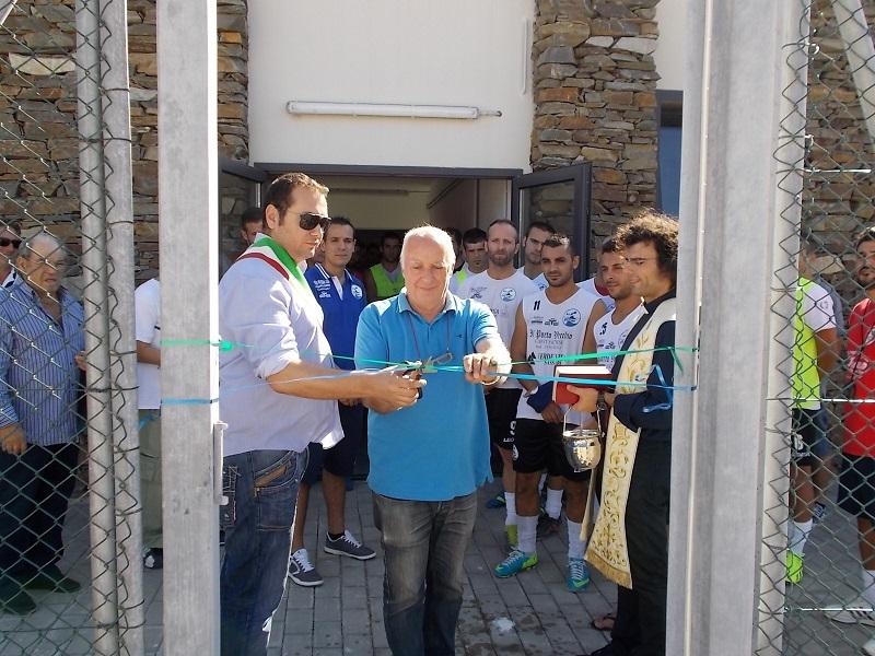 Stintino Taglio del nastro nuovo campo sportivo Roccaruja Comune di Stintino 28 settembre 2014