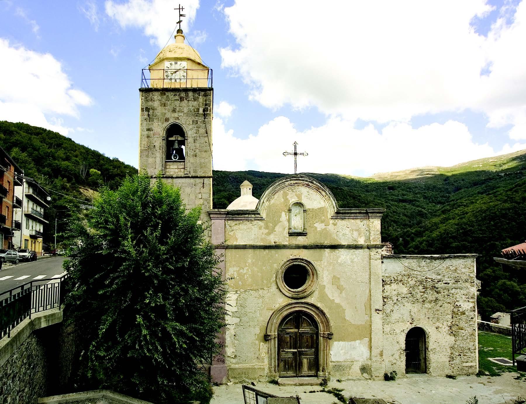 Antica chiesa parrocchiale di Sant'Antonio Abate a Desulo provincia di Nuoro
