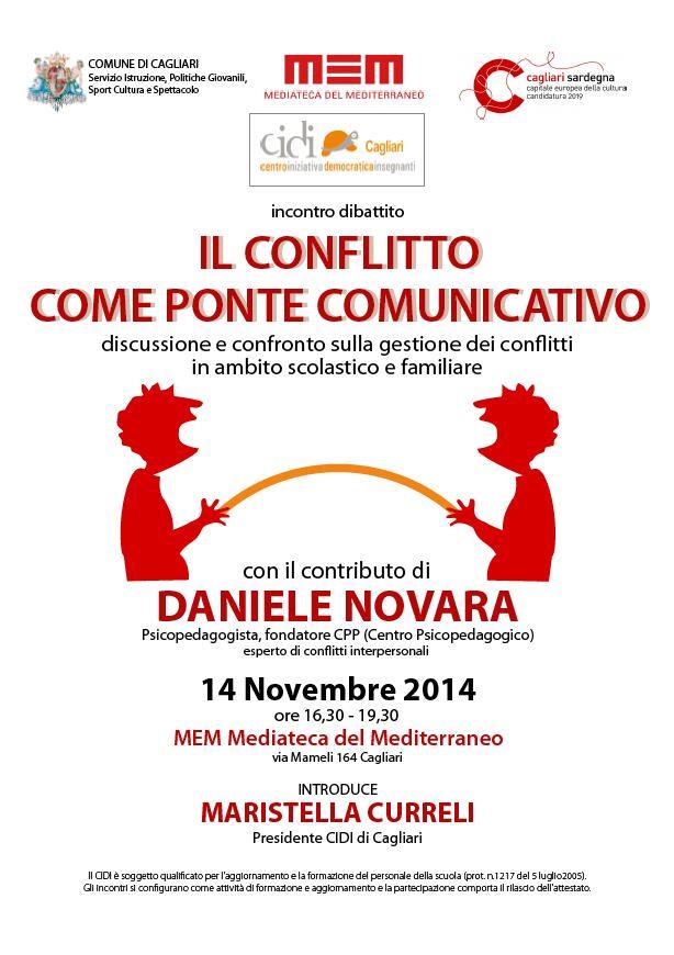 Appuntamento a Cagliari il 14 11 2014 al MEM per l'incontro dibattito IL CONFLITTO COME PONTE COMUNICATIVO