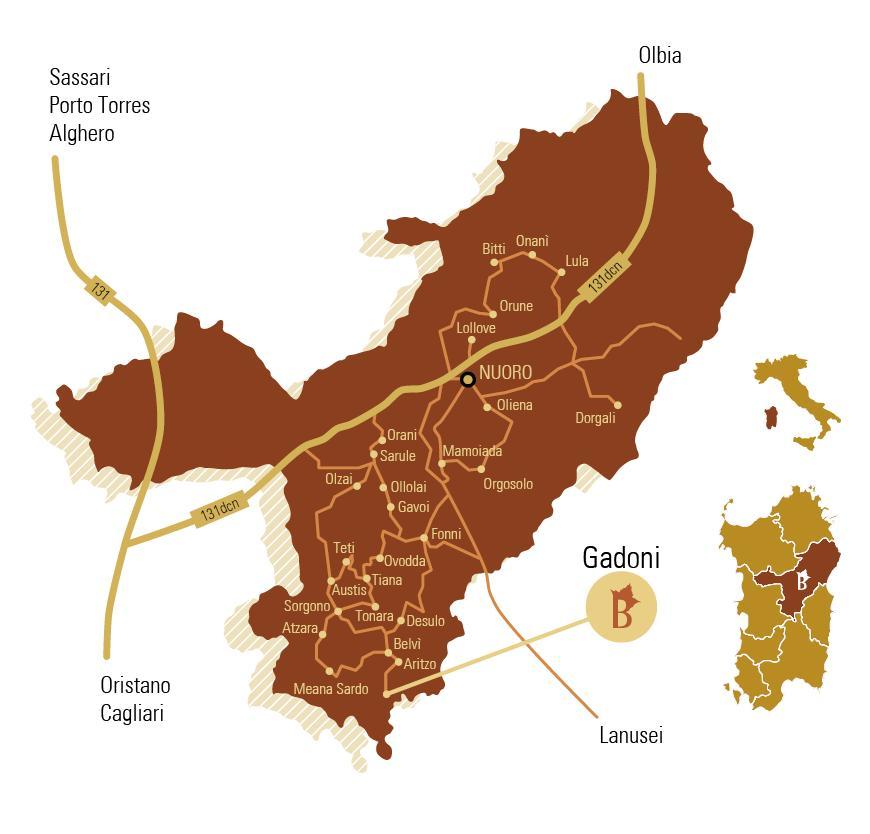 Cartina Cortes apertas a Gadoni 5 6 7 dicembre 2014, Autunno in Barbagia a Gadoni dicembre 2014