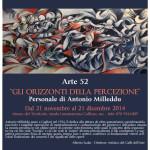 """""""GLI ORIZZONTI DELLA PERCEZIONE"""" Personale di Antonio Milleddu dal 21 novembre al 21dicembre 2014."""