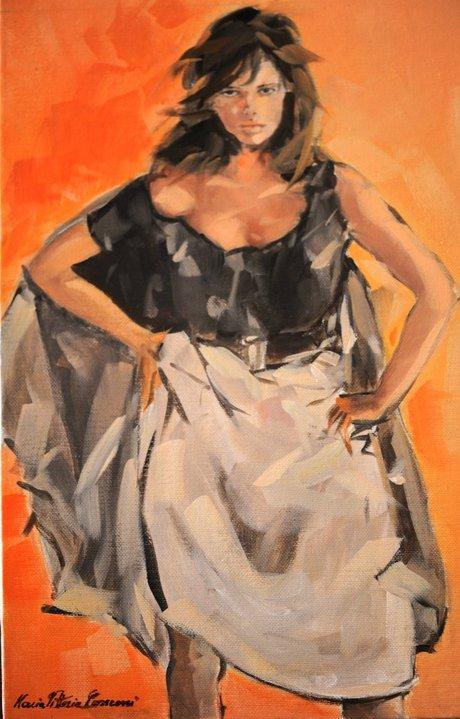 Opera di Maria Vittoria Conconi. Mostra Pittorica Collettiva 20 e 21 dicembre 2014 presso Corso Trinità 161