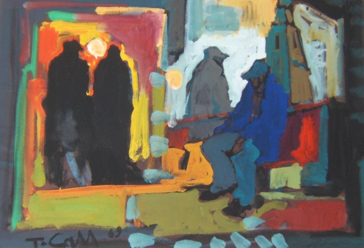 Cau Tore, olio su tela 50x70,  1969.