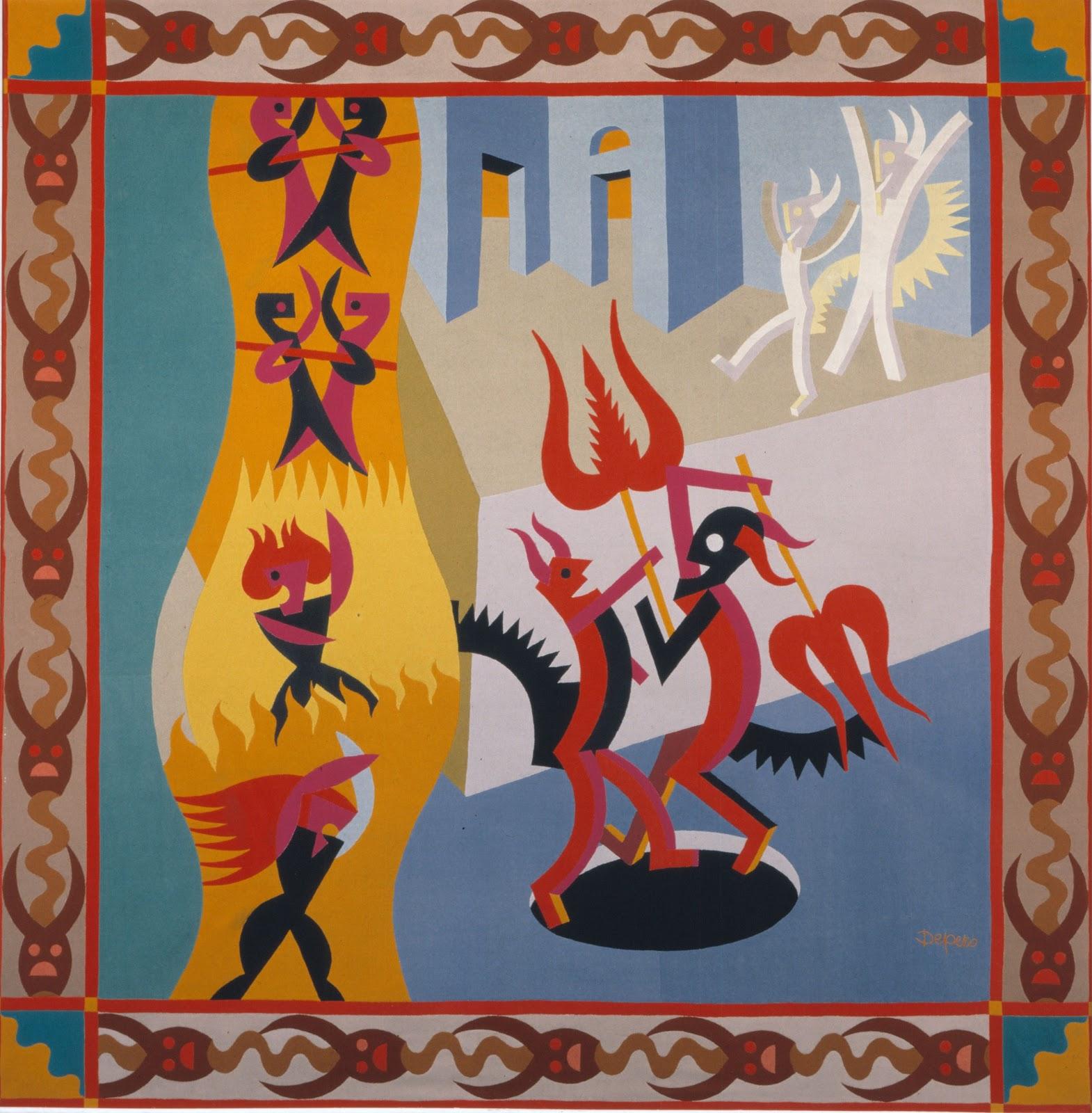 Depero Diavoletti neri e bianchi Danza di diavoli 1922