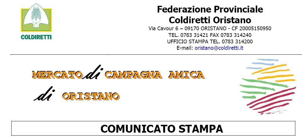 Federazione Provinciale Coldiretti Oristano I Mercati di Campagna Amica si preparano per le festività natalizie.