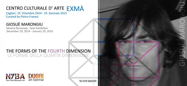 Exmà Giosuè Marongiu. Mostra personale di Giosuè Marongiu Cagliari Centro Comunale d'Arte e Cultura Exmà dal 19 dicembre 2014 al 11 gennaio 2015.
