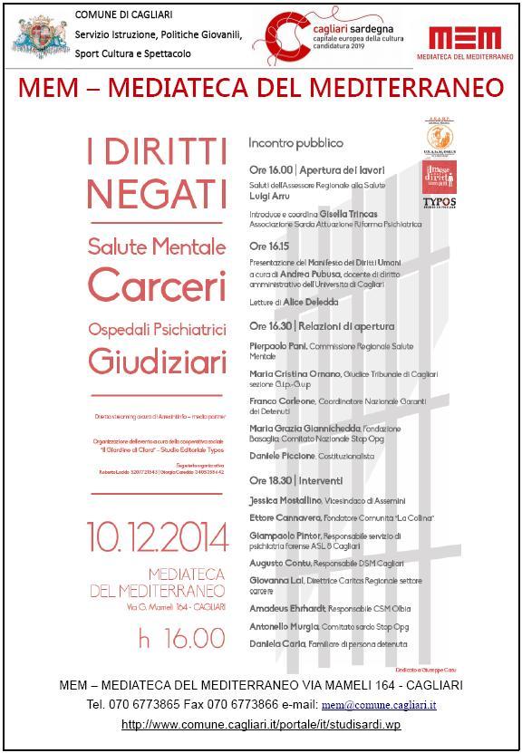 MEM -  MEDIATECA DEL MEDITERRANEO Incontro pubblico I Diritti Negati 10 dicembre 2014 Cagliari