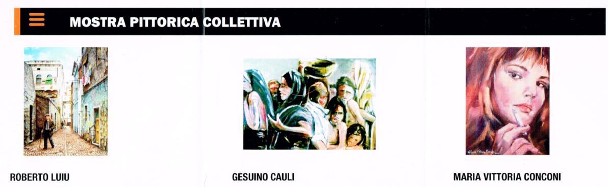 Mostra Pittorica Colletiva 20 21 dicembre 2014 Sassari Corso Trinità