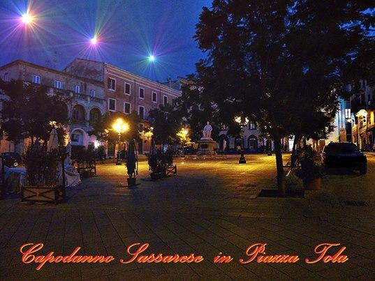 Piazza Tola Sassari foto di Carmelitos Rumbero. Capodanno a Sassari 31 dicembre 2014, concerto di Capodanno a Sassari
