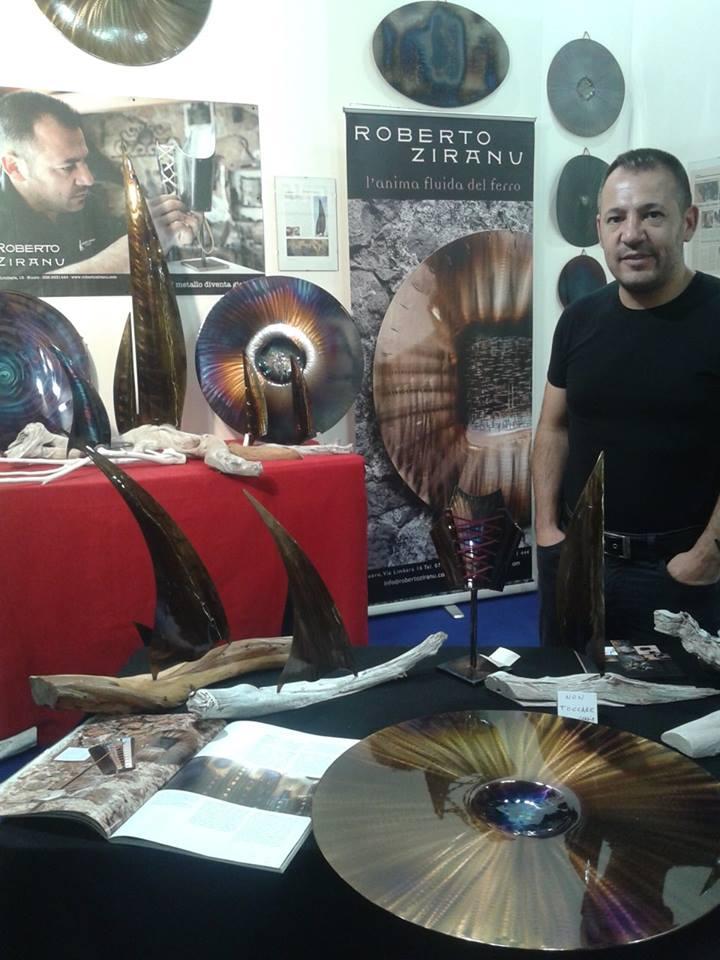 ARTIGIANO IN FIERA MILANO 2014 Stand Sardegna con Roberto Ziranu Artigiano e Artista di Orani creazioni in Ferro Battuto