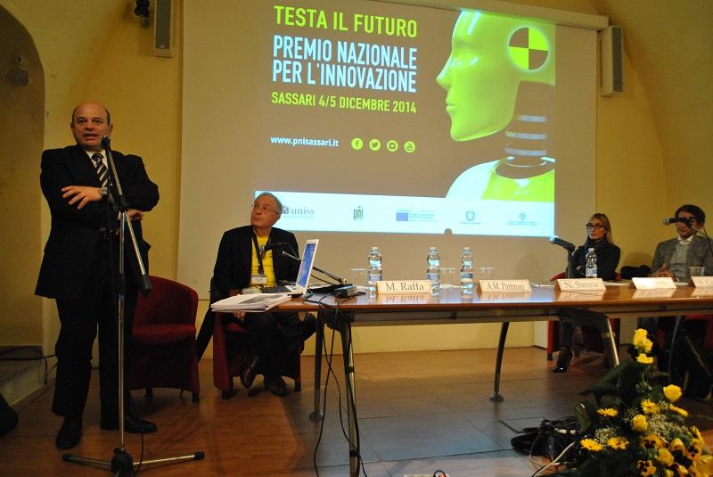 Sassari sindaco Nicola Sanna.  Sassari 5 dicembre 2014 presentazione di un progetto innovativo di pista ciclabileche il Comune di Sassari ha illustrato alla XII edizione del Premio nazionale per l'innovazione.