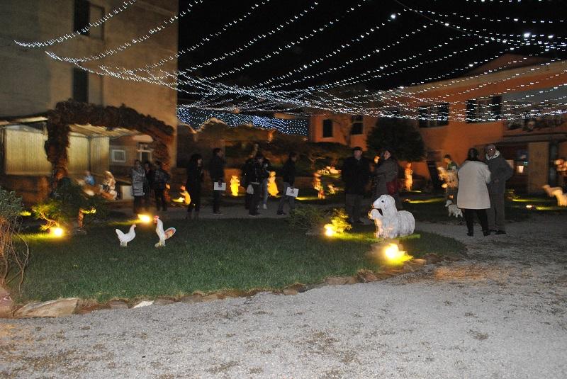 Inaugurato il presepe di Stintino. Natale a Stintino dicembre 2014.