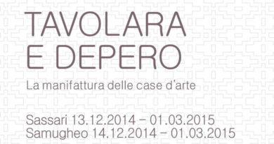 """I Comuni di Sassari e di Samugheo in collaborazione con il Mart di Trento e Rovereto presentano la mostra """"TAVOLARA E DEPERO - La manifattura delle case d'arte."""