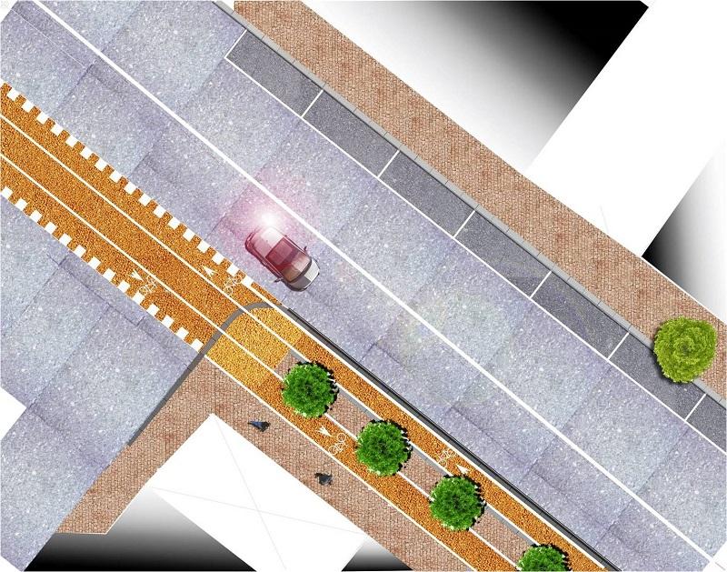 Progetto pista ciclabile a Sassari viale amendola