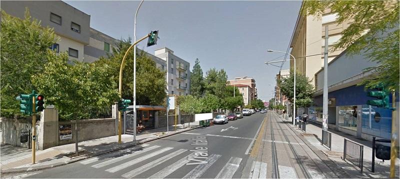 viale italia Sassari senza pista ciclabile