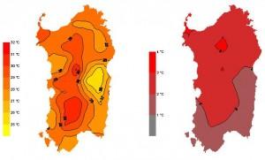Anomalie climatiche in Sardegna Autunno 2014 siccità