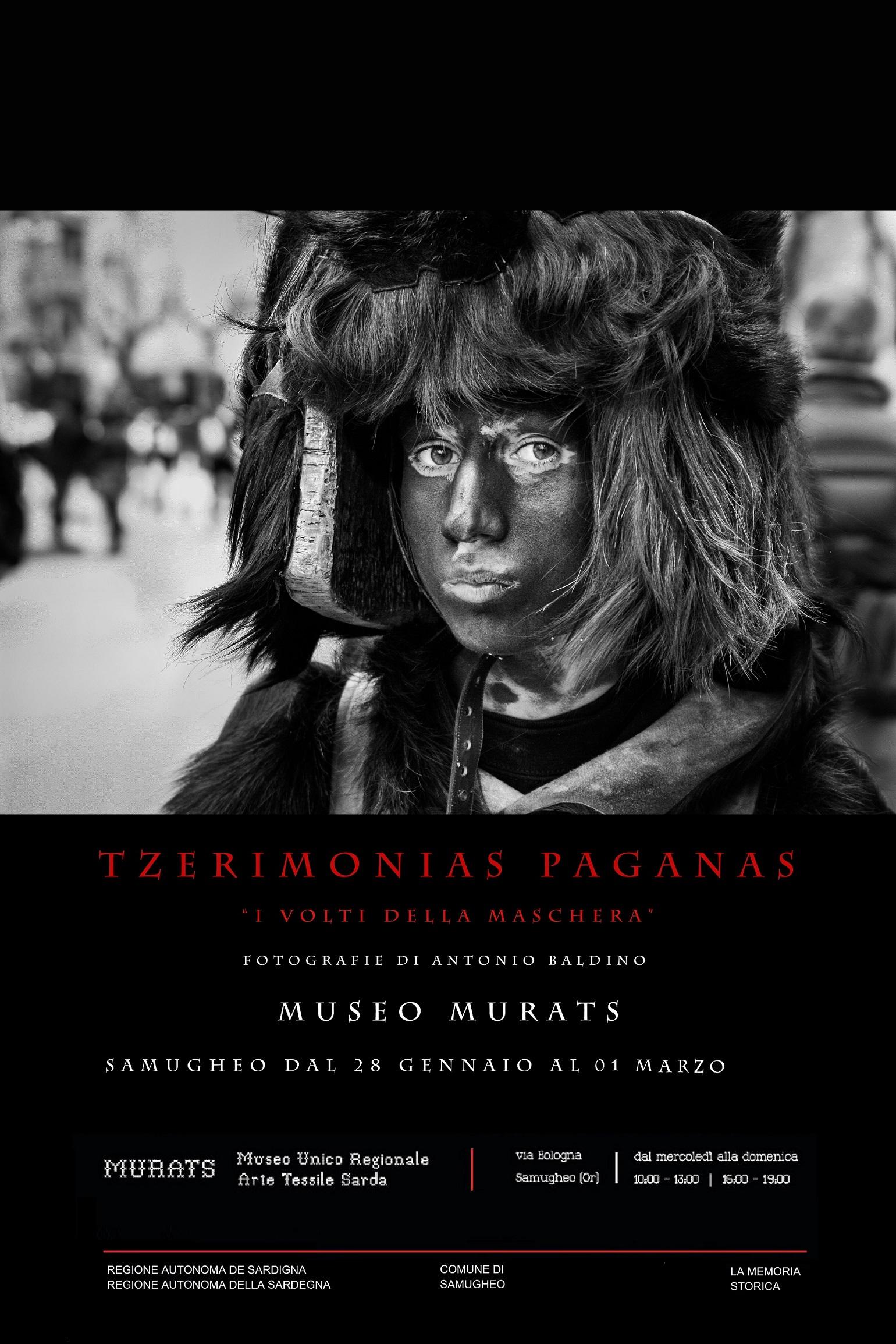 """sempre al Museo MURATS di Samugheo potete visitare fino al 1 marzo 2015 la mostra fotografica di Antonio Baldino TZERIMONIAS PAGANAS """"I volti della Maschera"""""""