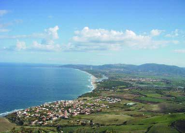 Panorama della Bassa Valle del Coghinas.