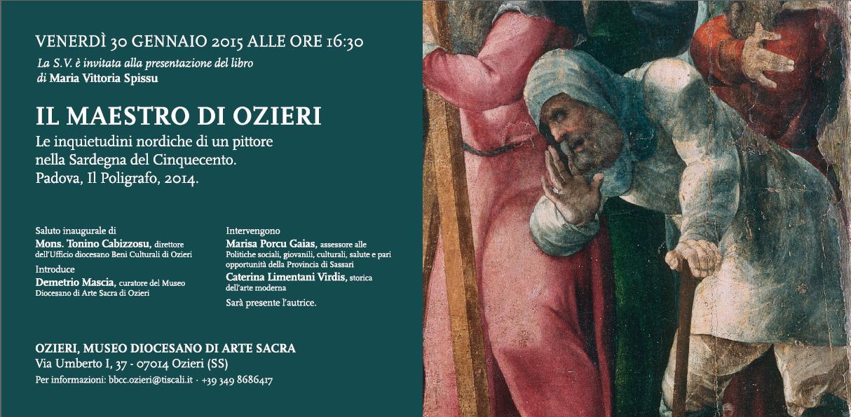 """Presentazione del libro di Maria Vittoria Spissu """"Il Maestro di Ozieri"""" 30 gennaio 2015 presso i locali del Museo Diocesano di Arte Sacra di Ozieri."""