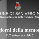 """San Vero Milis iniziative per """"I giorni della memoria"""" 2015"""
