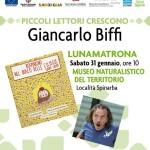 """Il Museo Naturalistico del Territorio """"G. Pusceddu"""" sabato 31 gennaio 2015 ospiterà Giancarlo Biffi autore di """"Rosmarino nel bosco delle ciliegie gnam gnam""""."""