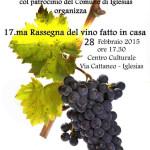 17.ma Rassegna del vino fatto in casa 28 febbraio 2015 Centro Culturale Via Cattaneo – Iglesias.