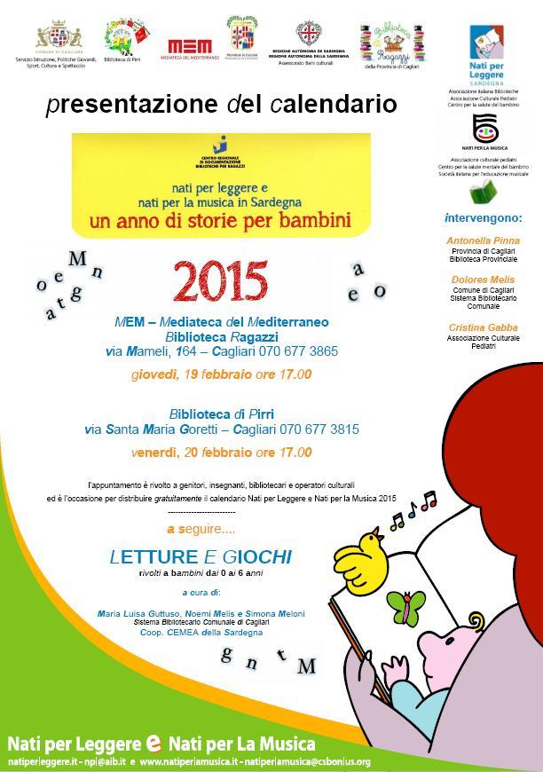 Nati per leggere e nati per la musica in Sardegna un anno di storie per bambini 2015