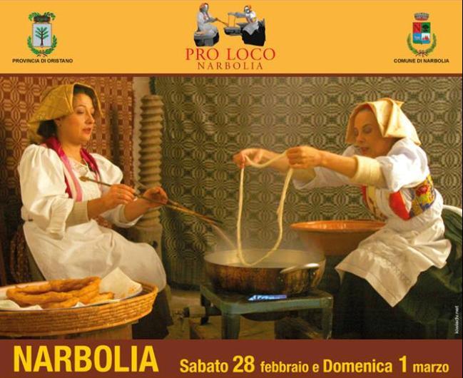 Pro Loco Narbolia presenta La Sagra della Zipola Sabato 28 febbraio e domenica 1 marzo 2015