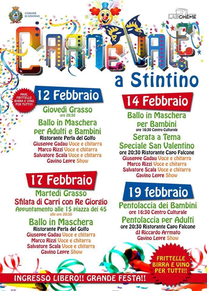 Programma Carnevale Stintino 2015