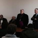 L'arcivescovo di Sassari padre Paolo Atzei questa mattina ha fatto visita agli uffici del Suap.