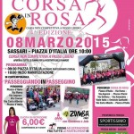 Corsa in Rosa manifestazione non competitiva di corsa a passo libero domenica 8 marzo 2015 a Sassari con partenza alle 10.00 da Piazza d'Italia.