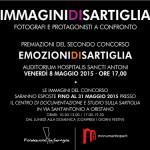 """L'8 maggio 2015 premiazione dei vincitori del Concorso Fotografico abbinato al Carnevale di Oristano """"Emozioni di Sartiglia""""."""