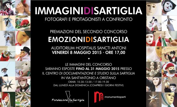 """L'8 maggio 2015 premiazioni dei vincitori della seconda edizione del concorso fotografico abbinato al carnevale di Oristano """"Emozioni di Sartiglia""""."""