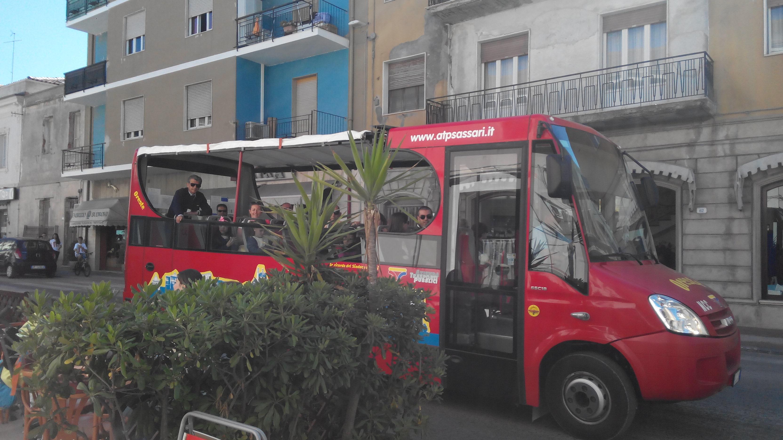 """Bus turistico """"Oreste"""" Monumenti aperti a Porto Torres Asinara 16 e 17 maggio 2015"""